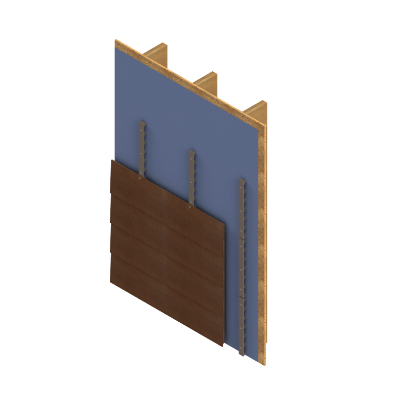 Panel, siding & insulation supports