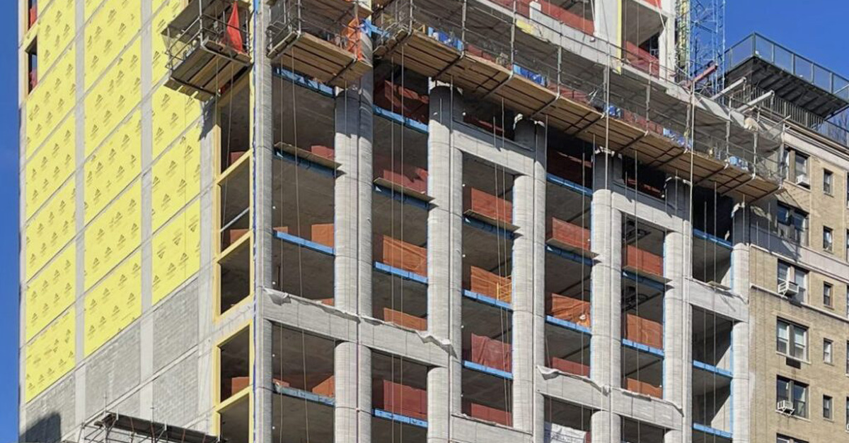 """Featured image for """"Façade progress at #2505Broadway where FERO FAST™ Thermal Brackets and FERO Thermal Rap-Ties™ provide unparalleled wall-assembly performance"""""""